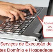 serviços de execução de sites dominios e hospedagem
