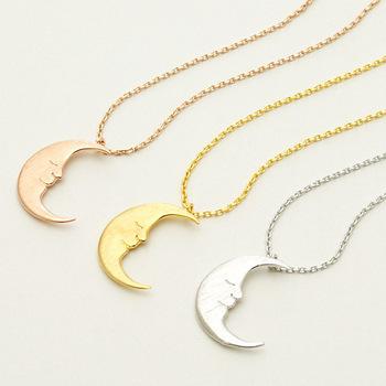 2015-nova-moda-jóias-ouro-minimalista-prata-crescent