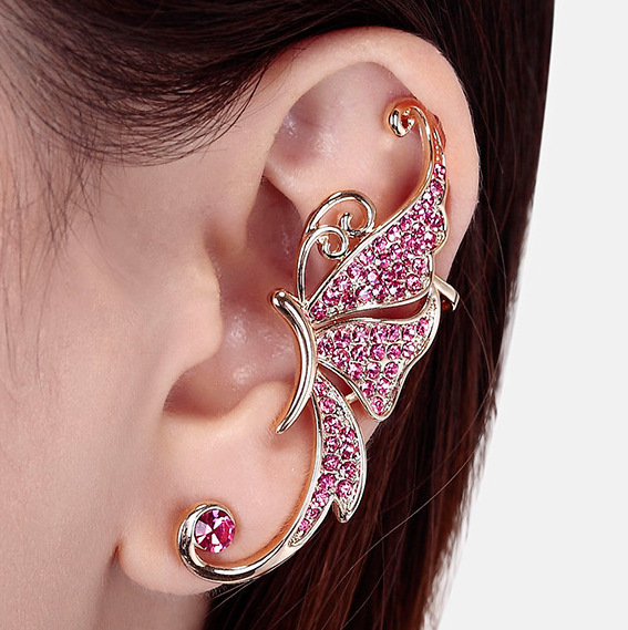 De-cristal-de-ouro-branco-asas-de-borboleta-Ear-Cuff-Clip-on-brincos-bijou(2)